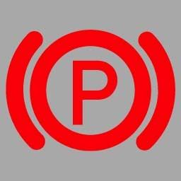 機動車儀表板上(如圖所示)亮表示什么?A、行車制動系統出現故障B、駐車制動器處于制動狀態C、防抱死制動系統出現故障D、駐車制動器處于解除狀態