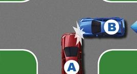 無信號燈路口未讓右側的車輛