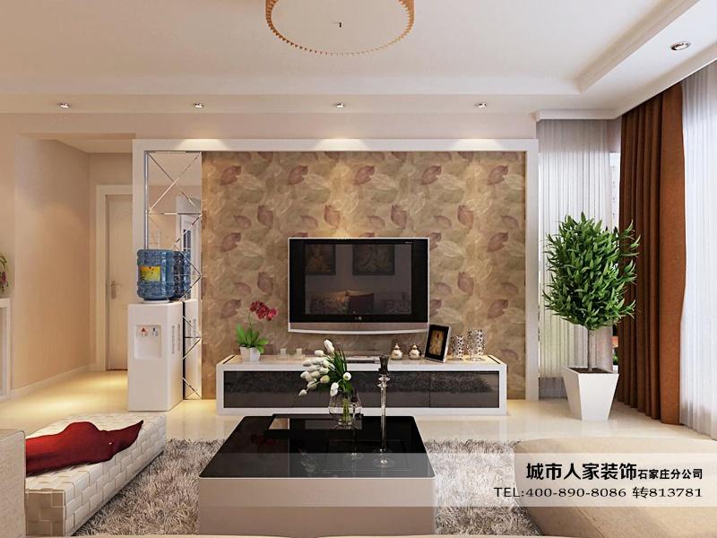 用   暖   色的   壁纸铺贴   整个墙壁,温润的色调   装修