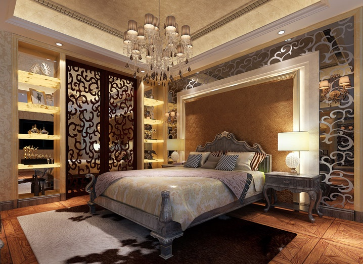 320平米五居室歐式中式混搭風格裝修效果圖