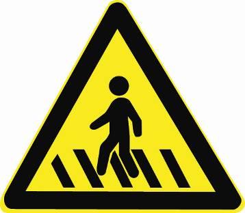 如圖所示,當您看到這個標志時,應該想到什么?A、前方有人行橫道B、應當相應減速行駛C、視野范圍內無行人可以保持原速行駛D、視野范圍內無行人可以適當加速通過答案是AB