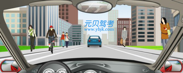 在這段城市道路上行駛的最高速度不能超過多少?A、30公里/小時B、40公里/小時C、50公里/小時D、70公里/小時答案是A