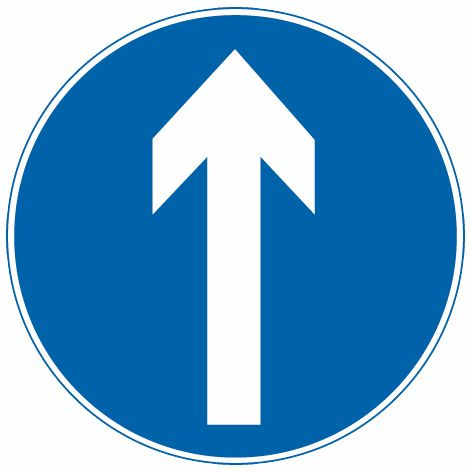 这个标志是何含义?A、直行车道B、只准直行C、单行路D、禁止直行