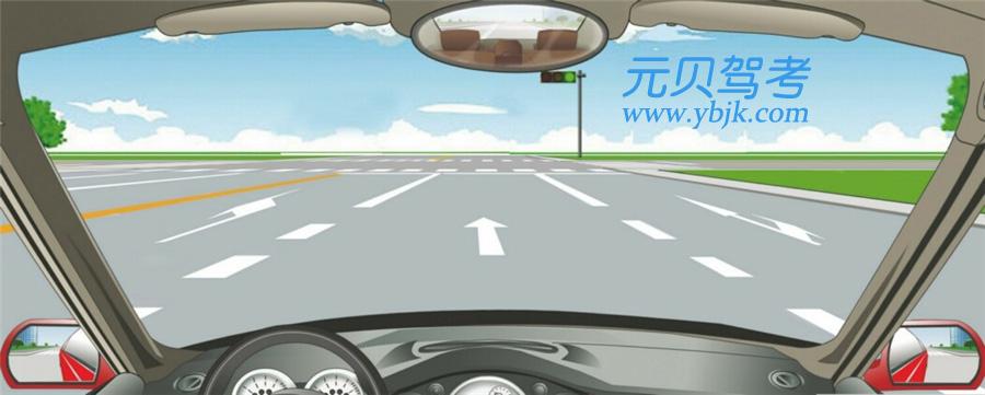在這個路口左轉彎選擇哪條車道?A、最左側車道B、中間車道C、最右側車道D、不用變道答案是A