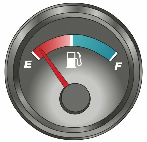 这个仪表是何含义?A、电流表B、压力表C、水温表D、燃油表答案是D