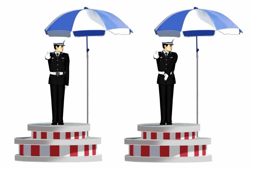 這一組交通警察手勢是什么信號?A、靠邊停車信號B、左轉彎待轉信號C、減速慢行信號D、左轉彎信號答案是D