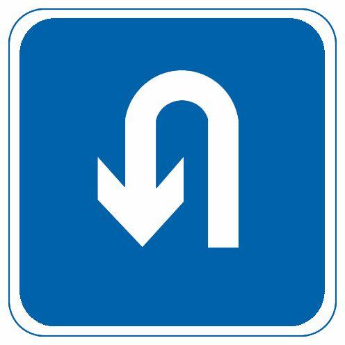 這個標志是何含義?A、掉頭B、倒車C、左轉D、繞行答案是A