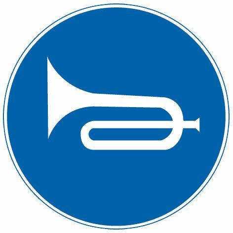 这个标志是何含义?A、应当鸣喇叭B、禁止鸣喇叭C、禁止鸣高音喇叭D、禁止鸣低音喇叭答案是A