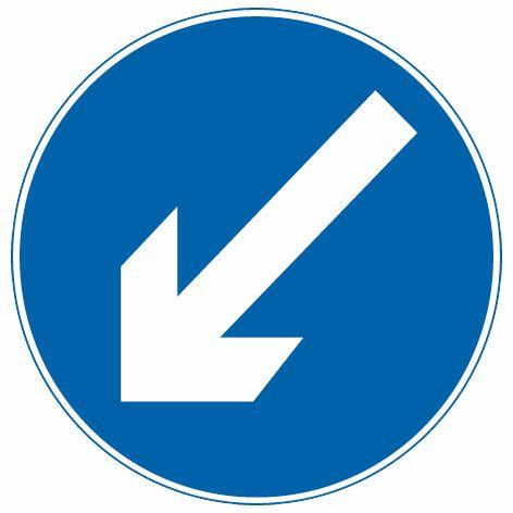 這個標志是何含義?A、靠左側道路行駛B、只準向左轉彎C、左側是下坡路段D、靠道路左側停車答案是A
