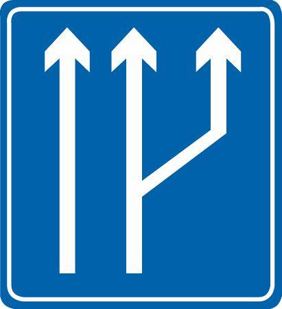 這個標志是何含義?A、向右變道B、分流處C、車道數增加D、路面變寬答案是C