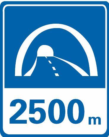 這個標志是何含義?A、隧道出口距離B、隧道入口距離C、隧道跟車距離D、隧道總長度