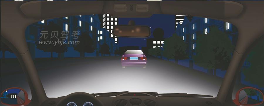 夜間駕駛機動車遇到這種情況怎樣超車?A、開遠光燈B、交替使用遠近光燈C、開近光燈D、開危險報警閃光燈答案是B