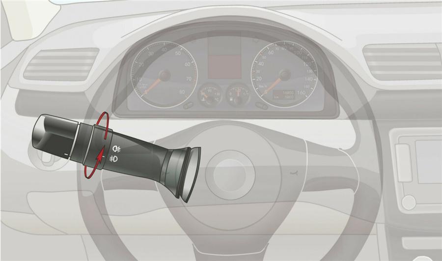 85 旋转开关这一档控制机动车哪个部位?图片