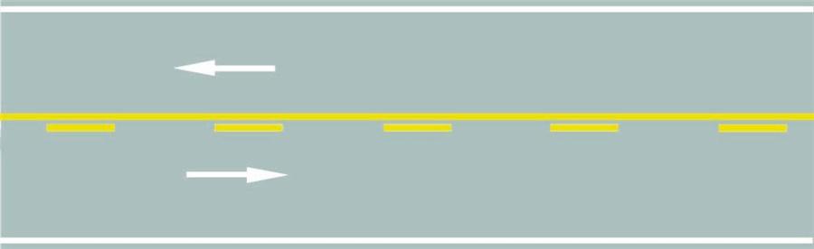 路中心黄色虚实线是何含义?A、实线一侧禁止越线B、虚线一侧禁止越线C、实线一侧允许越线D、两侧均可越线行驶答案是A
