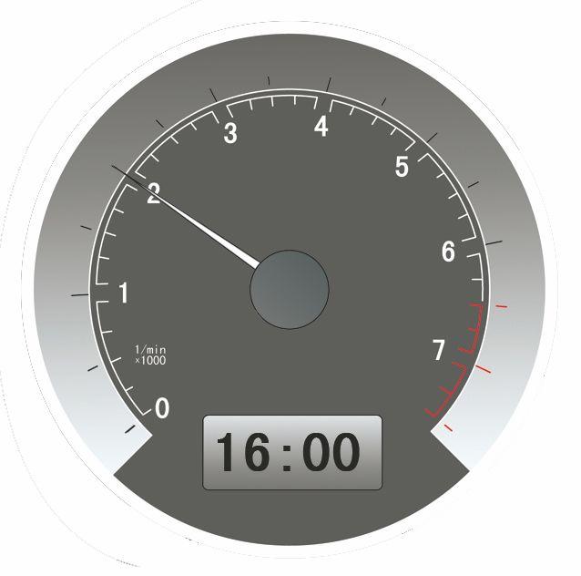 仪表显示当前车速是20公里/小时。答案是错