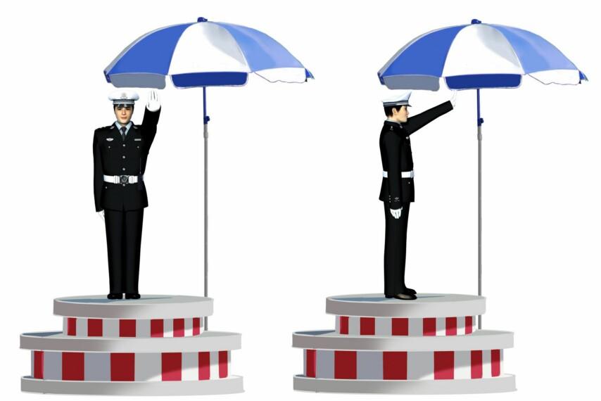 這一組交通警察手勢是什么信號?A、左轉彎信號B、停止信號C、右轉彎信號D、靠邊停車信號答案是B