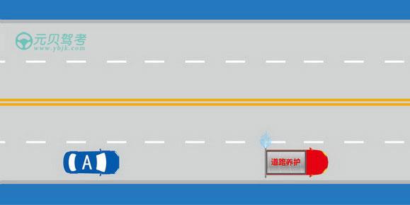 如圖所示,駕駛機動車遇到這種情況時,A車應當注意避讓。答案是對